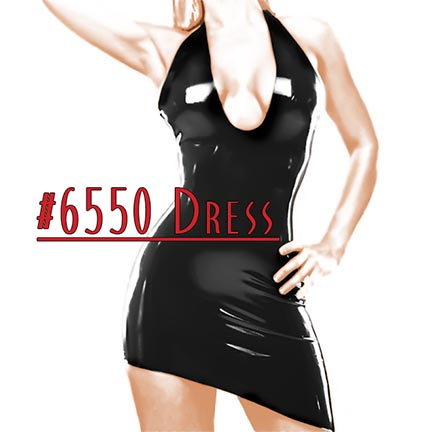 black,latex,asymmetrical,dress
